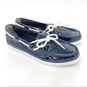 Cole Haan Nantucket Patent Leather Moccasin Shoes